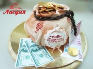 #п200(36) торт мешок с деньгами