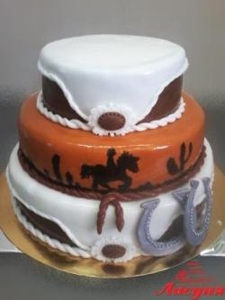 #п200(41) торт в ковбойском стиле