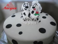 #п200(8) торт собаки далматинцы