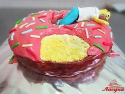 #п220(14) торт Гомер Симпсон и пончик