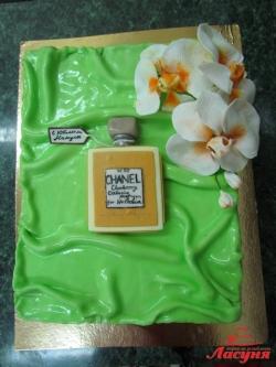 #п220(4) торт для девушки духи и орхидеи