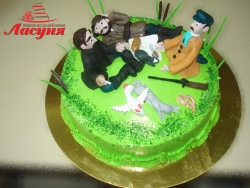#п250(13) торт Охотники на привале