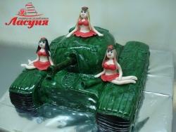 #п250(2) торт танк с девочками