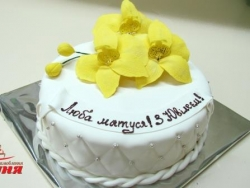 #ю170(5) торт для мамы с орхидеями