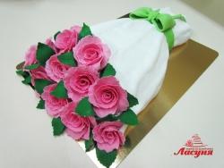 #ю170(7) торт букет роз