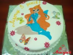 #д150(21) торт фея Винкс Winx