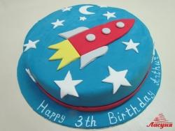 #д180(44) торт ракета в космосе