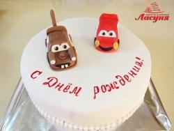 #д200(22) торт Тачки Молния МакКуин и Мэтр