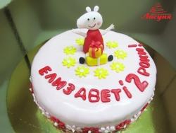 #д200(24) Торт Свинка Пеппа для девочки на 2 годика