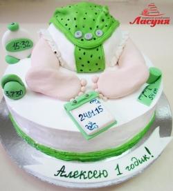 #д220(6) торт на 1 годик детская попка