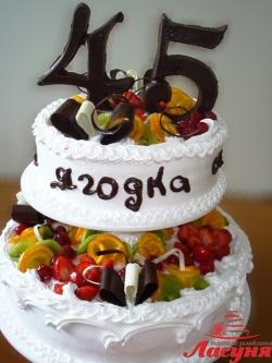 #п115(19) торт на 45 лет