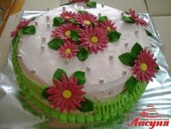 #п115(24) торт с цветочками