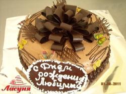 #п115(29) торт с шоколадным бантом