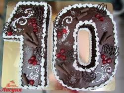 #п115(38) торт шоколадные цифры