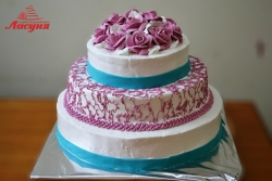 #п115(40) торт на день рождения 3 яруса