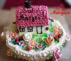 #п115(44) торт для мамы домик