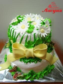 #п115(49) торт с ромашками