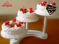 #п115(59) торт на 3 яруса на подставке
