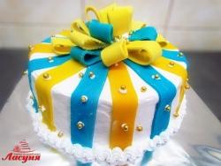 #п115(62) торт с бантом