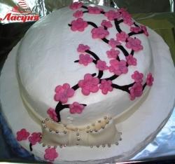 #п115(63) торт ветка сакуры