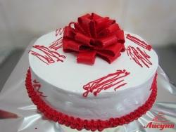 #п115(66) торт с красным бантом