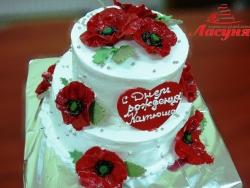 #п130(12) торт с маками
