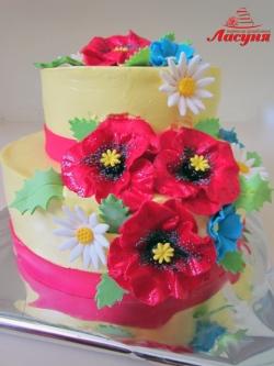 #п130(15) торт с маками