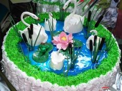 #п130(5) торт лебединое озеро