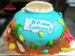 #п130(6) торт на жемчужную свадьбу
