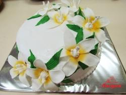 #п135(10) торт с лилиями