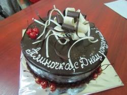 #п135(11) шоколадный торт с бантом