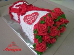 #п135(12) торт букет роз