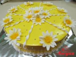 #п135(13) торт с ромашками