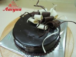 #п135(14) шоколадный торт с шоколадным бантом