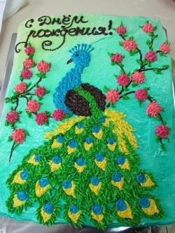#п135(18) торт павлин