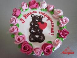 #п135(7) торт мишка с сердцем