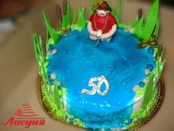 #п140(10) торт рыбаку