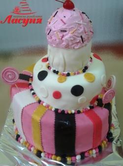 #п140(13) 3-х ярусный торт на день рождения