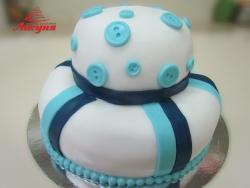 #п140(20) торт с пуговками
