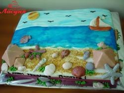 #п140(32) торт отдых на море