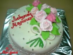 #п140(5) торт для мамы с розами