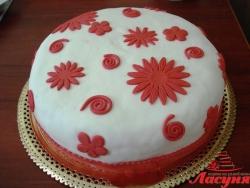 #п140(8) торт на день рождения с узорами