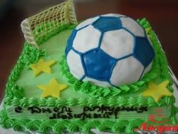 #п140(9) торт футбольный мяч на поле