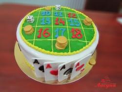 #п150(15) торт казино рулетка карты кости