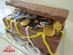 #п150(18) торт сундук сокровищ