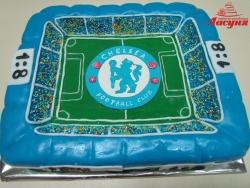 #п150(19) торт футбольное поле Челси Chelsea FC