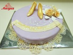 #п150(21) торт для девушки туфельки