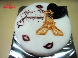 #п150(22) торт для девушки Париж
