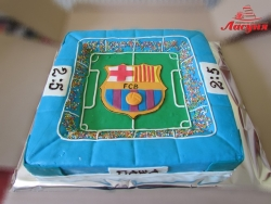 #п150(25) торт футбольное поле Барселона FC Barcelona