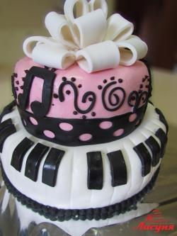 #п150(29) торт для музыканта